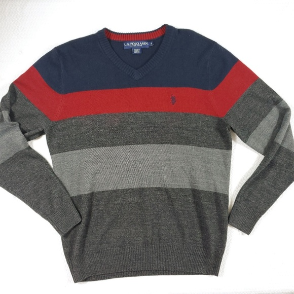 U.S. Polo Assn. Other - US Polo Color Block Striped Pull Over Sweater